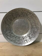 Everlast Metal Aluminum Bowl Dogwood Flowers Trinket Holder Hand Forged Vintage