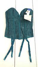 Vintage 80s Lady Marlene Bustier Bra Size 34B Lace Corset Garter Belt