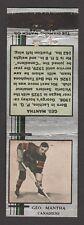1933-34  DIAMOND MATCHBOOKS SILVER  GEORGE MANTHA   INV A2929
