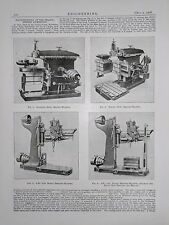 Machine Tools At The Franco British Exhibition: 1908 Engineering Magazine Print
