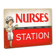 Nurses Station Decorative METAL SIGN Nursing Hospital ER ICU RN LVN LPN Decor