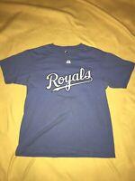 Mike Moustakas Kansas City Royals Powder Blue T-shirt Size Youth Large