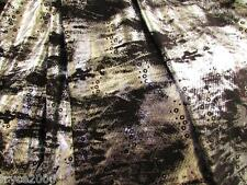 BY YARD  POLY LYCRA 4W STRETCH TIE DYE METALLIC FOIL & NICE SEQUIN FOIL DESIGN