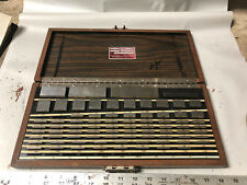 MACHINIST TOOL LATHE MILL Starrett Webber Croblox Gage Block Set Model SS81A1