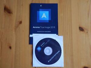 BACKUP ACRONIS True Image Software 2018 mit Lizenznummer