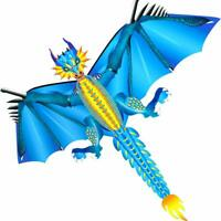 52inch x 63inch New Ice Dragon Kite Single Line with Tail Good Flying as Gift