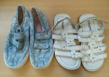 Girls Beach / Summer Shoe Bundle Size 12 / 30 Pumps and Sandals <B2723