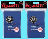 200 ULTRA PRO BLUE PRO-MATTE STANDARD SIZE DECK PROTECTORS Card Sleeves MTG