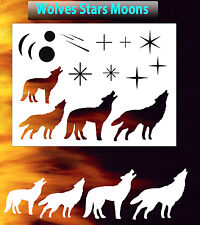 Wolf Stars Moons Airbrush Stencil Special FX Spray Vision Template air brush