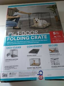 "* You & Me 1-Door Folding Dog Crate, 24.8"" L x 17.4"" W x 19.5  H w/crate pan"