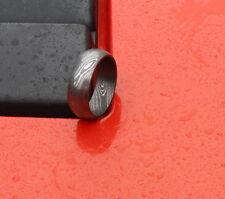 100% Custom Damascus Steel Men Ring Size (12) band