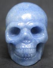 50mm 4OZ NATURAL Blue AVENTURINE CRYSTAL Carving Art Skull