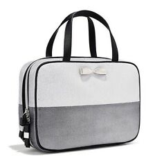 New With Tags VICTORIA'S SECRET Silver TRAVEL COSMETIC MAKEUP CASE BAG TOTE