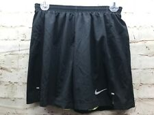 Nike Dri Fit Running Women's Small Lined With Compression Shorts Black Green