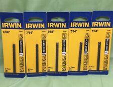 """Irwin 67507 7/64"""" Black Oxide Metal Twist Drill Bit on 5 packs =10 drills bits"""