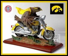 IOWA HAWKEYES HERKY ON HONDA,HARLEY-DAVIDSON MOTORCYCLE