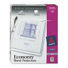 Avery Top-Load Sheet Protector Economy Gauge Letter Clear 100/Box 75091