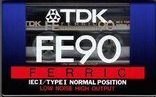 1 x TDK FE90 Blank Audio Cassette Tapes Ferric 90 minute NEW