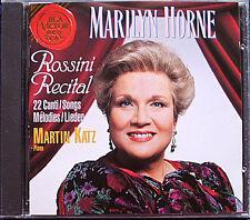 Marilyn HORNE: ROSSINI RECITAL 22 Lieder KATZ CD Bolero Canzonetta spagnuola RCA