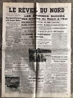 N31 La Une Du Journal Le Réveil Du Nord 6 Aout 1941