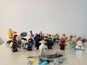 lego lot 22 figurine personnage ninjago +véhicules+accessoires