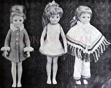 "Knitting Pattern SHEENA Dolls Clothes PONCHO,TROUSERS,DRESS,COAT,PANTS 18"" Dolly"