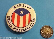 1950 - 1960 Antiguo PIN Maraton DESFILE PUERTORRIQUEÑO NUEVA YORK Puerto Rico