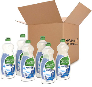 6 Pack Seventh Generation Dish Liquid Soap Free & Clear 25 oz Sparkling Clean