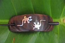 Handmade metal LIZARD wooden Hair Pin Barrette Clasp Slide Clip Sono wood new