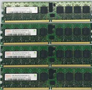 Lot Of 4 Hynix/HP 1GB 1Rx4 PC2-5300P HYMP512P72CP4-Y5 Server Memory