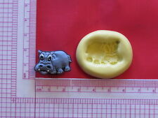 Baby Hippo Silicone Mold A919 Chocolate Fondant Miniature Baby Shower