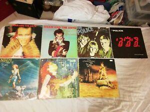 80s Vinyl LP Records Job Lot Adam & The Ants, Police, Toyah
