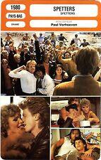 Fiche Cinéma. Movie Card. Spetters (Pays-Bas) Paul Verhoeven 1980