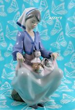 Lladro # 5739 ~ LAP FULL OF LOVE ~ Girl W/Kittens  **MIB**  BUY 1 GET 1 50% OFF