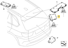 GENUINE BMW E70 E91 TAILGATE TRAP CIRCUIT AERIAL AMPLIFIER 65209141491 (JS)