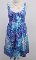Cynthia Cynthia Steffe Women's Fit Flare Dress Size 14 Blue white Print NWT