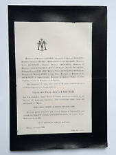 LARCHER Rabardy FAIRE PART Levigneux Dutartre CAREL Rollet Letellier ROUEN 1896