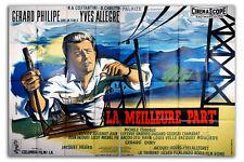 Affiche 160x240cm LA MEILLEURE PART 1956 Yves Allégret - Gérard Philipe #