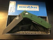 Benchmade 940BK Osborne design Reversed Tanto Green Scales NIB Warranty