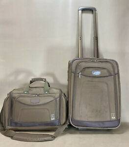 """Travelpro Crew 7 Set 16"""" Tote & 20"""" Upright Wheeled Exp Carry On Suitcase"""