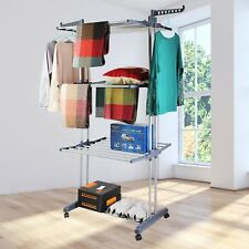 Extra Large 3 Layer Tier Foldable Clothes Stand Airer Laundry Dryer Rack line