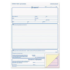 Adams Contractor Proposal Form 3-Part Carbonless 8 1/2 x 11 7/16 50 Forms NC3819