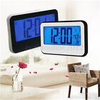 LCD Display Digital Alarm Clock Thermometer Sound Controlled Backlight Snooze