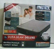 "NEW OPEN BOX Intex Dura-Beam Mid Rise Airbed with Electric Pump13"" Queen $93.99"