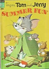 TOM AND JERRY SUMMER FUN #1  PUZZLES UNMARKED  DELL  GOLDEN-AGE  1954  NICE!!!