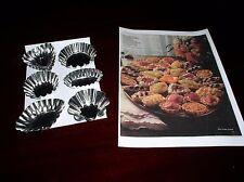 Pastelería conjunto de 6 Miniatura TARTLET Latas/Moldes y el folleto de recetas