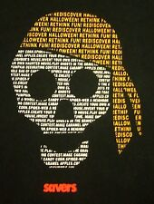 SAVERS small T shirt Discover Halloween tee Value Village skull bandana Saver's