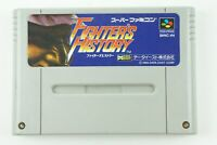 Fighter's History SNES Data East Nintendo Super Famicom From Japan
