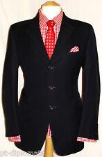 "Men's GIEVES & HAWKES NO.1 Savile Row London Vestito Blu Navy UK 40R W34"" XL31"""