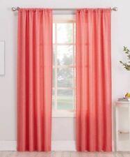 No. 918 Marley Semi Sheer Rod Pocket Curtain Panel, 40' X 84', Coral Orange